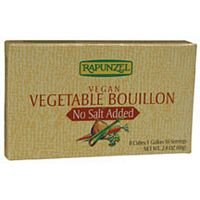 Rapunzel USA Organic Vegetable Bouillon - No Salt, 2.4 Ounce - 12 per case.