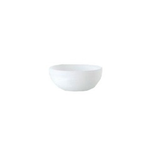 Shiraleah Small White Frosted Alabaster Shallow Round Bowl (Shallow Stone Bowl)