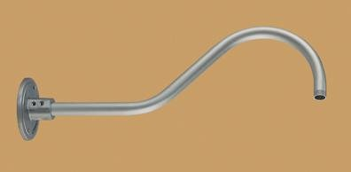 "R Series Goose Neck Finish: Galvanized, Size: 6.5"" H x 21.5"" W"