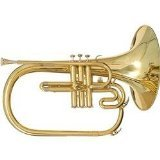 Blessing BM400S Marching French Horn, Silverplated