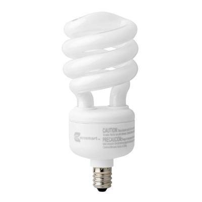 60W Equivalent Daylight (5000K) Spiral Candelabra CFL Light Bulb (2-Pack) - Candelabra Compact