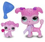 Littlest Pet Shop Figures Poodle and Baby - Pet Shop Les Little