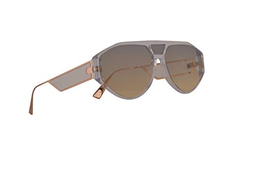 Christian Dior DiorClan1 Sunglasses Crystal w/Grey Lens 61mm 9001I Clan 1 Clan1