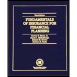 Fundamentals of Insurance for Financial Planning, Beam, Burton T., Jr. and Poole, Barbara S., 1579960774