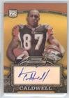 160 Rookie Football Card - Andre Caldwell #898/1,050 (Football Card) 2008 Bowman Sterling - [Base] - Rookie Autographs Gold Refractor [Autographed] #160