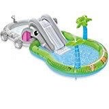 Intex Elephant Inflatable Play Center Kiddie Pool with Waterslide and Sprayer