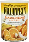 Natures Plus Fruitein Banana Orange Creme - 2.8 lbs, Vegetarian Protein Powder - Whole Food Plant Based Meal Replacement, Vitamins and Minerals for Energy - Gluten Free - 37 Servings (Banana Orange Pineapple)