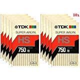 TDK L-750HS Beta Video Cassette Super Avilyn High Standard Tape (10-Pack)