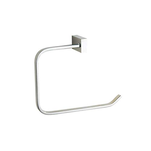 MWPO Towel Rack Open Towel Ring Brass Hand Towel Holder Wall Mounted Polished Chrome Finish Towel Hanger Bathroom Accessories for Bathroom Towel Rail for Bathroom