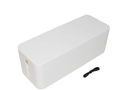 JK Home and Office Wire and Cable Organizer Box (White) ()