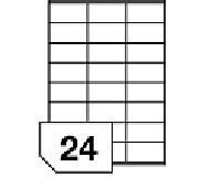 Madaboutink Clear Glossy Vinyl Inkjet Printable Adhesive Labels 24 Per A4 Sheet 70Mm X 36Mm 5 Sheets Clear