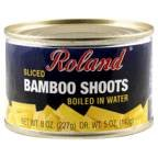 Roland Bamboo Shoots Sliced Boiled In Water 8 OZ (Pack of 3)