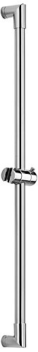 WS Bath Collections Round Sliding Shower Rail, Chrome by WS Bath Collections