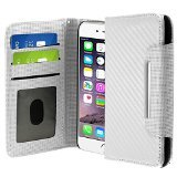 Zizo iPhone 6 Plus Horizontal Flap ID Pouch with Credit Card Pockets - Retail Packaging - White