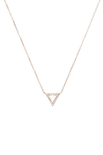 18k Vs2 Necklace - Diamond Triangle Necklace, Gold Triangle Pendant, 9K, 14K, 18K Gold Necklace, Rose Gold Triangle Charm, White Natural Diamonds, Romantic Gift For Her /code: 0.002