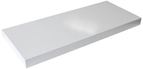 Regalwelt 9006-DL-WSM Design Livingboard, 60 x 25 x 3,8 cm, weiß seidenmatt