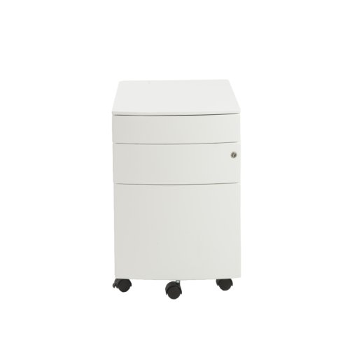 (Euro Style Floyd Steel Mobile Filing Cabinet, White)