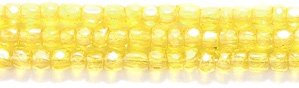 (Preciosa Ornela Czech 3-Cut Style Seed Glass Bead, Size 9/0, Transparent Luster Light Yellow)