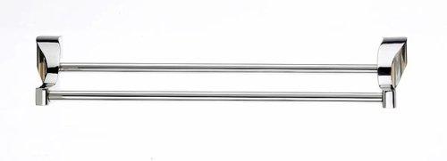 Top Knobs - Bath Double Towel Rod - Polished Nickel (Tkaq7Pn)