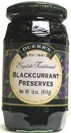 Duerrs Blackcurrant Preserves - 16oz - 454g - Glass Jar by - 454g Jar