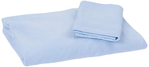 Hug A2050 Jogo de lencol + fronha para berco redondo fase 2, Azul