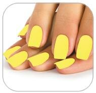Faux ongles jaune fluo