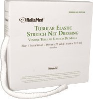 Reliamed Tubular Elastic Net Dressing, Size 1, X-Small, Fingers, Toes and Wrist
