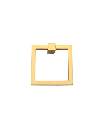 Ring Pull 2″ Square Brass PN - Brushed - Towel Bb Ring