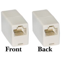 QualConnectTM RJ45, 8P8C, (Straight) Telephone Inline Coupler ()