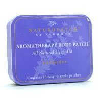 Aromatherapy Essential Oil Body Patches, Lavender, Chamomile & Jasmine, Sleep Aid 10 Patches Tin by ()