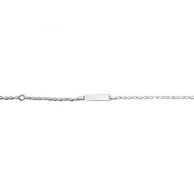 So Chic Bijoux © Bracelet Identité Enfant Gourmette 15 cm Maille 1,5 mm Argent 925 - Personnalisable : Gravure offerte