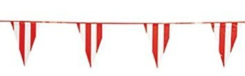 Fun Express - 100 Foot Red and White Pennant Banner - Carnival Banner (4-Pack)]()