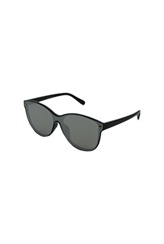 Finecy de Black Homme taille Mirrored Lunettes unique with In soleil Lens Silver Frame rrfxBn6q