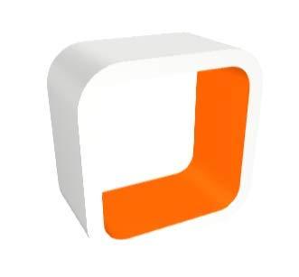 orange Gloss Zespoke White Outer Cube Aquarium Stand orange Gloss Inner