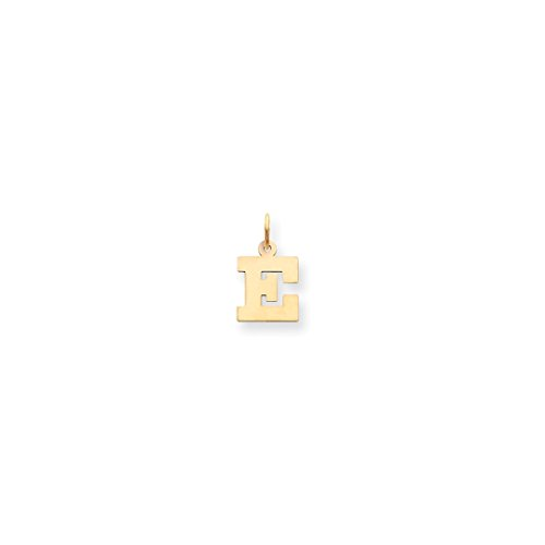 ICE CARATS 14kt Yellow Gold Small Block Initial Monogram Name Letter E Pendant Charm Necklace Fine Jewelry Ideal Gifts For Women Gift Set From Heart 14kt Gold Charm Block