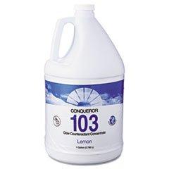 103 Odor Counteractant Concentrate Lemon ((6 Pack Value Bundle) FRS1WBLE Conqueror 103 Odor Counteractant Concentrate, Lemon, 1gal, 4/Case)