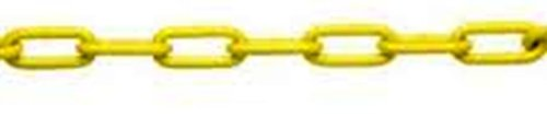 ASC-MC1872161-Low-Carbon-Steel-Straight-Link-Coil-Chain-Polycoated-Yellow-20-Trade-18-Diameter-x-100-Length-520-lbs-Working-Load-Limit