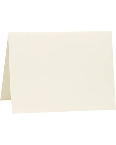 A9 Folded Card (5 1/2 x 8 1/2) - Natural White - 100% Cotton (250 Qty.) by Reich Paper