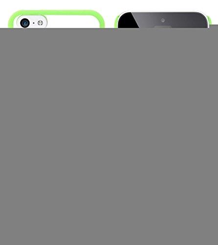 Ultraflache weiche Schutzhülle APPLE IPHONE 5C [Streifen und Knoten] [Grun] von MUZZANO + STIFT und MICROFASERTUCH MUZZANO® GRATIS - Das ULTIMATIVE, ELEGANTE UND LANGLEBIGE Schutz-Case für Ihr APPLE I