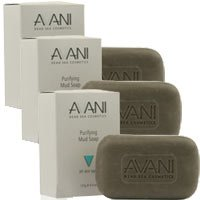 AVANI Dead Sea Cosmetics Purifying Mud Soap – Includes Vitamins, Essential Oils, Plant Extracts – 3 Pack (Cleansing Volcanic Mud Deep Mask)