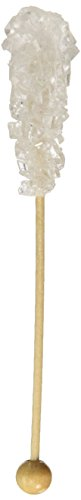 - White Pure Cane Sugar Swizzle Stick - Rock Candy on Stick, 10 Count