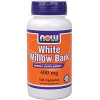 NOW Foods White Willow Bark 400 mg, 100 caps ( Multi-Pack) (White Willow Bark 100 Caps)
