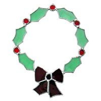 Stained Glass Supplies Christmas Wreath Bevel Cluster - Not a finished Suncatcher