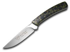 Hen and Rooster Painted Pony Edition Black Matrix Fixed Blade Hunter 1/100 Stainless Knife