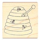 Pink Ink Stamps Honey Pot Stamp