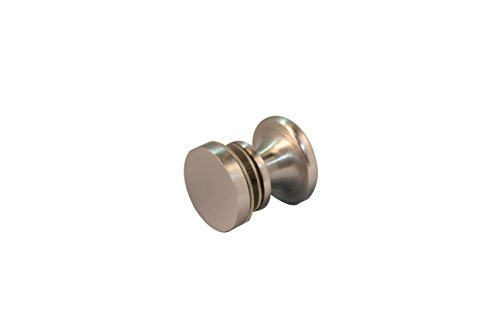 - Glass Shower Sliding Door Single Knob Handle Heavy Duty Material (Brushed Nickel)