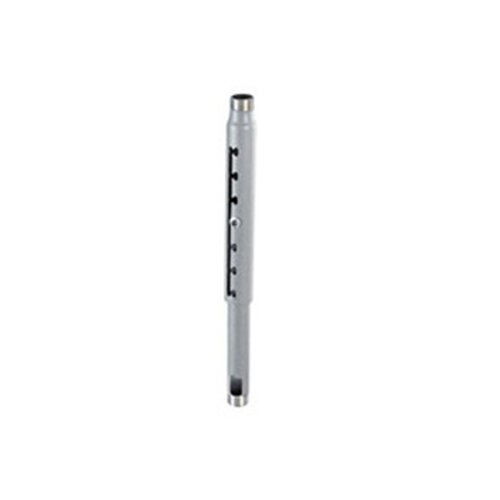 Chief Notched Design Adjustable 48'' To 72'' Ceiling Mount Extension Column Pipe Weight Capacity 500lbs Silver by Chief