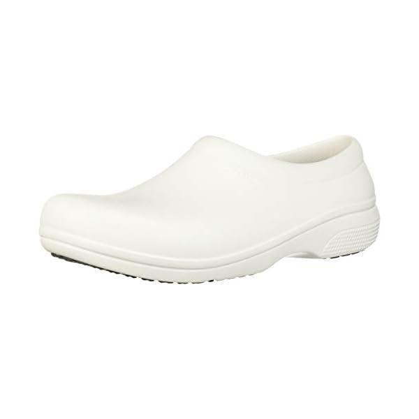 Crocs Men's and Women's On The Clock Work Slip Resistant Work Shoe | Great Nursing or Chef Shoe
