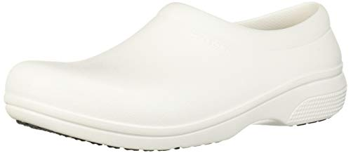 (Crocs On The Clock Work Slipon Medical Professional Shoe,  White, 7 US Men/ 9 US Women M US)