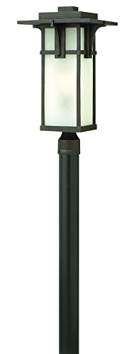 Hinkley 2231OZ-LED Craftsman/Mission One Light Post Top/ Pier Mount from Manhattan collection in Bronze/Darkfinish,